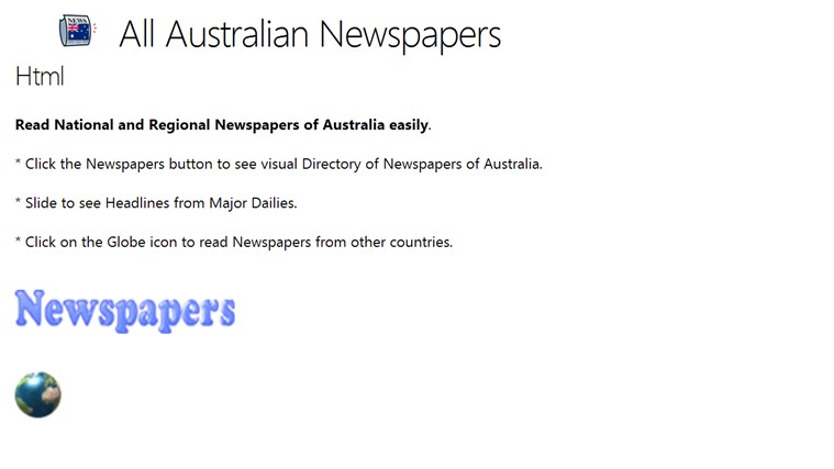 All Australian Newspapers newspapers