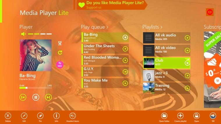 Media Player Lite media video