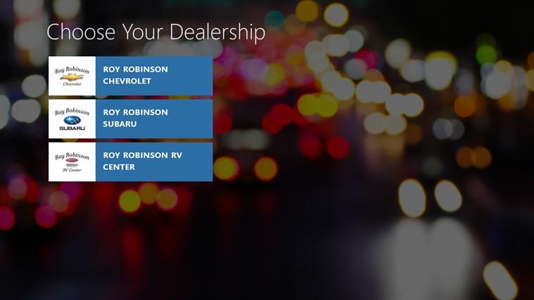 Roy Robinson Chevrolet Subaru DealerApp
