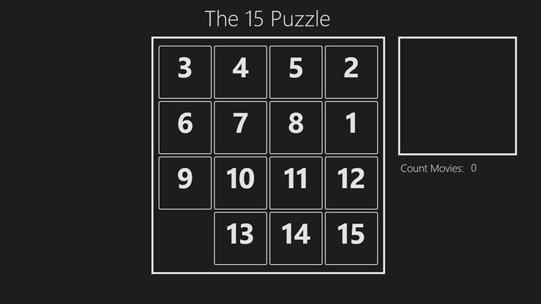 The 15 Puzzle puzzle