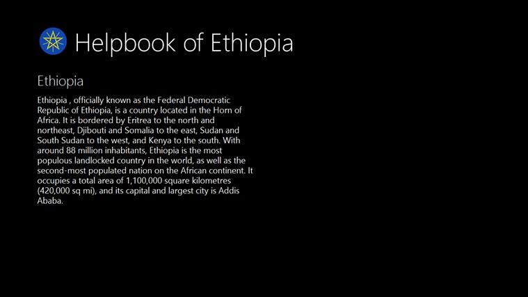 Helpbook of Ethiopia