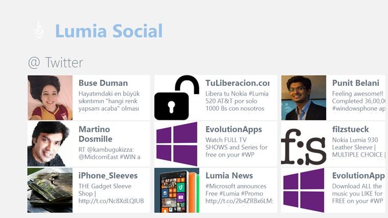 Lumia Social lumia