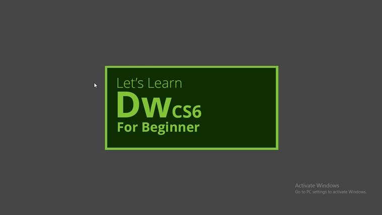 Let's Learn Dreamweaver CS6 for Beginner money tutorial