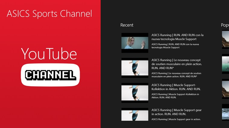 International ASCIS channel on youtube playing video