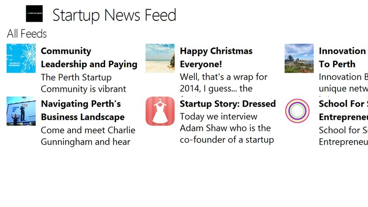 Startup News Feed