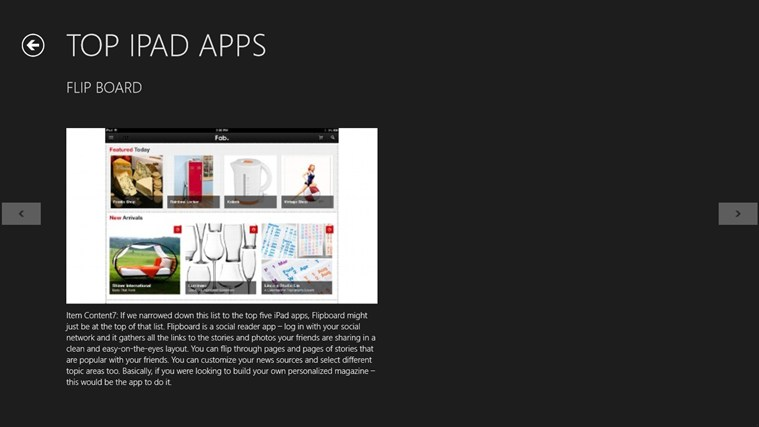 IPAD APPLICATIONS applications