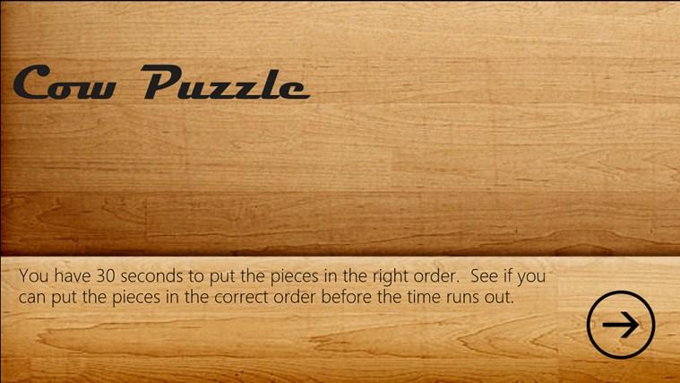 Cow Puzzle puzzle