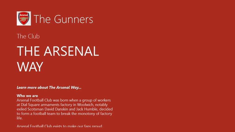 The Gunners fan App