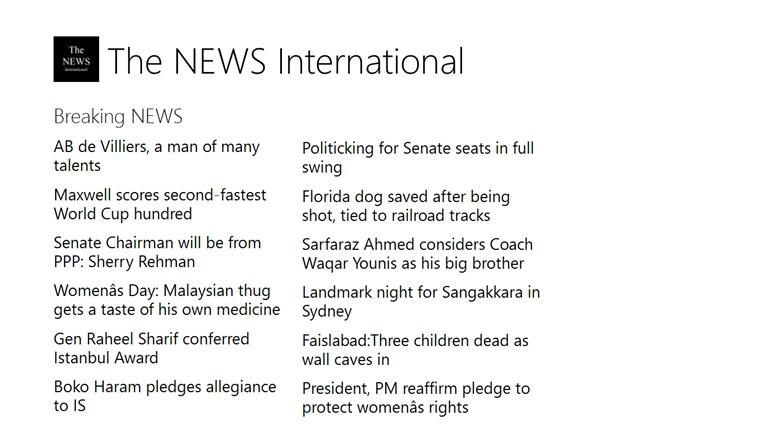 The NEWS International dagblad news