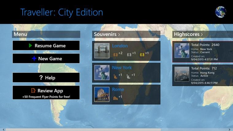 Traveller: City Edition destination