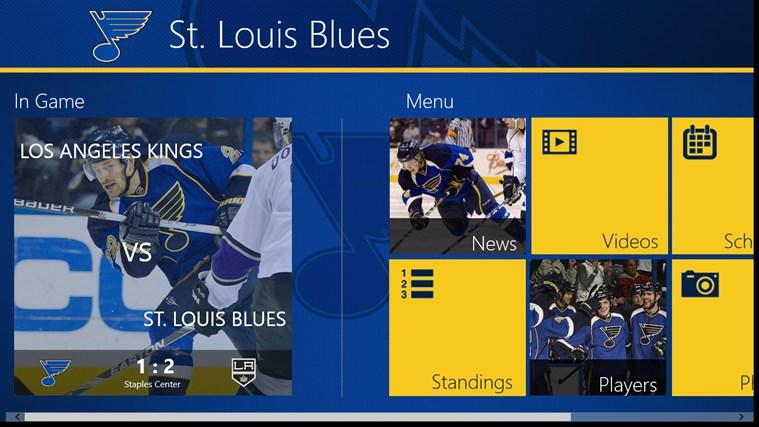 St. Louis Blues Official App stats