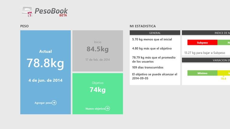 Pesobook conseguir peso ideal