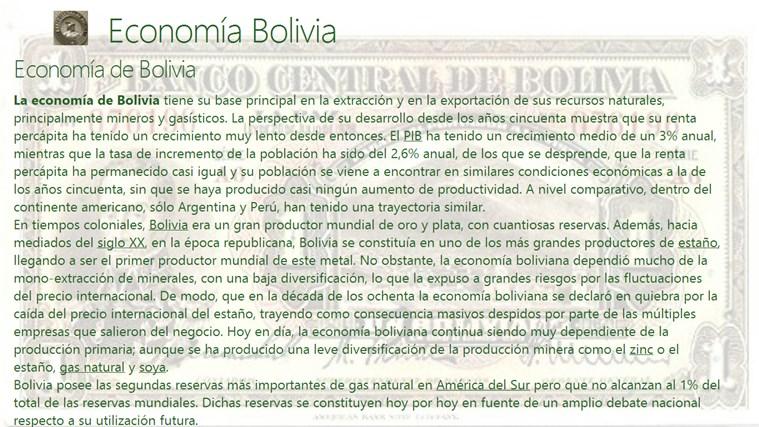 Economia de Bolivia
