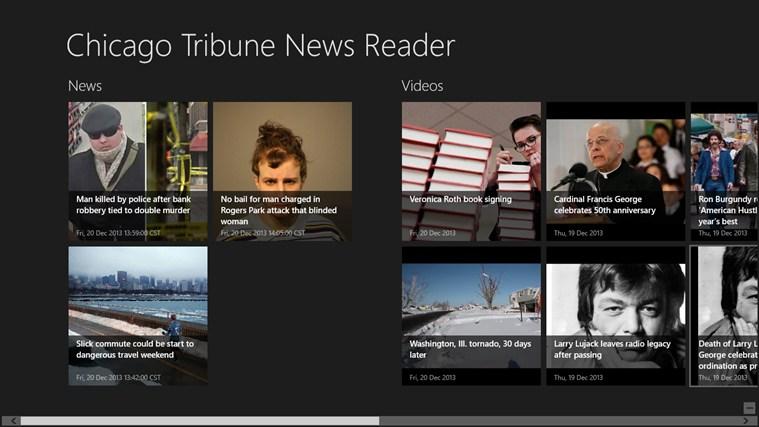 Chicago Tribune News Reader tribune world