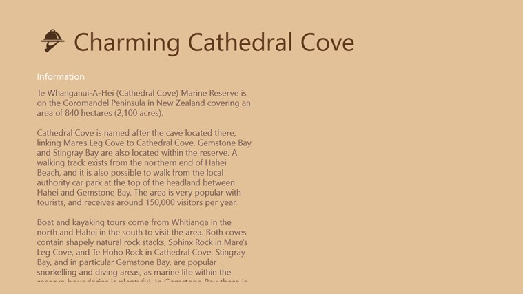 Charming Cathedral Cove