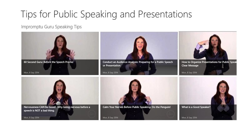 Play Hear See Do: Public Speaking