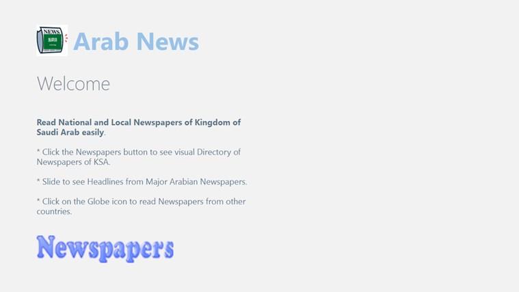 Arab News newspapers