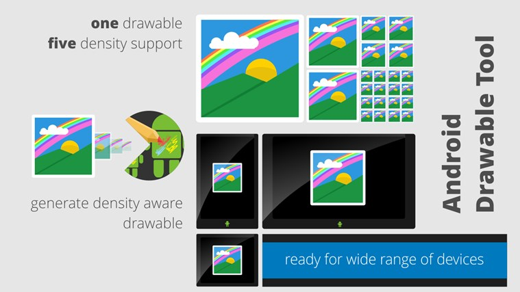 Android Drawable Tool resolution