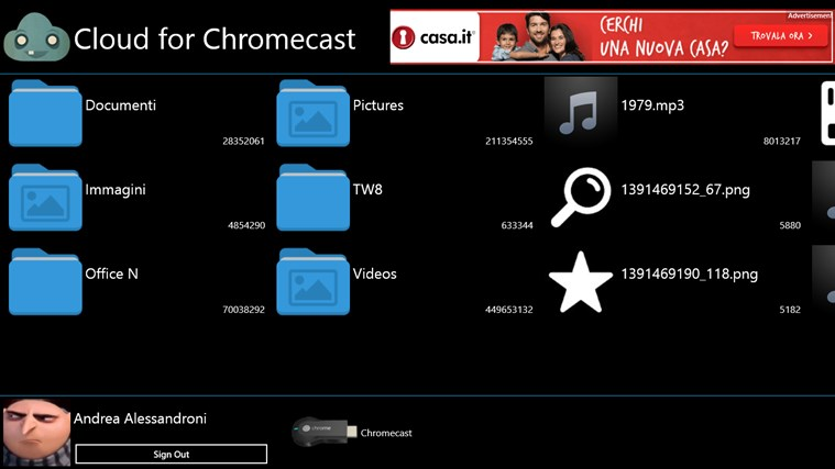 Cloud for Chromecast