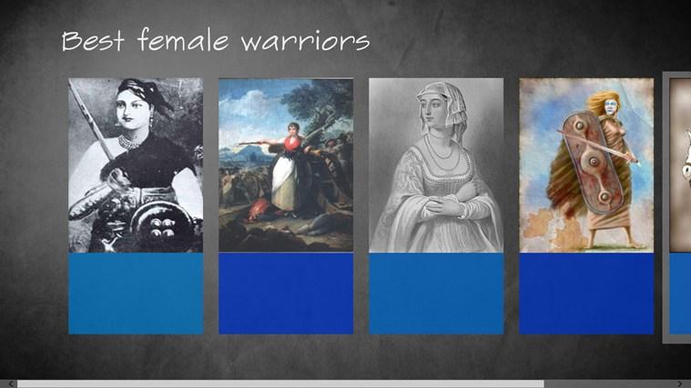 Best female Warriors celebrities oops female photos