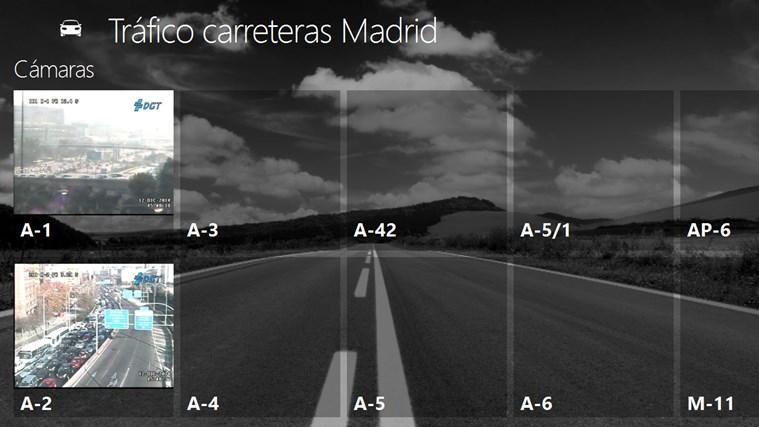 Tráfico carreteras Madrid