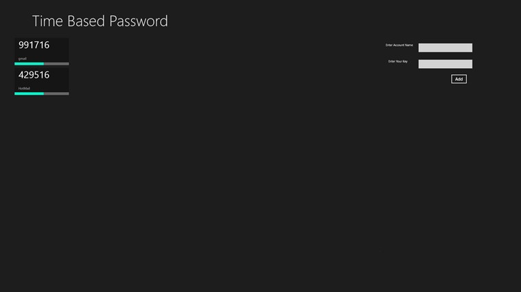 Time Based Password Generator