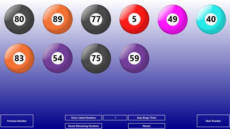 Bingo+ bingo calling card
