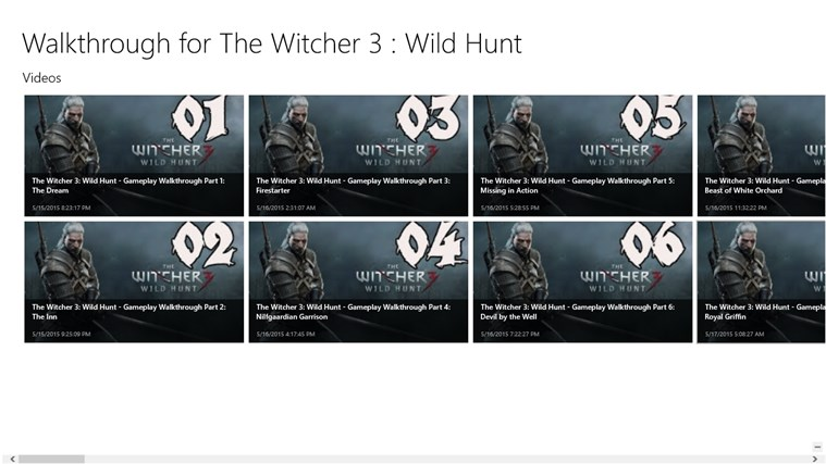 Walkthrough for the Witcher 3 : Wild Hunt