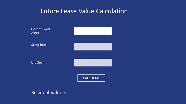 Future Lease Value Calculation90