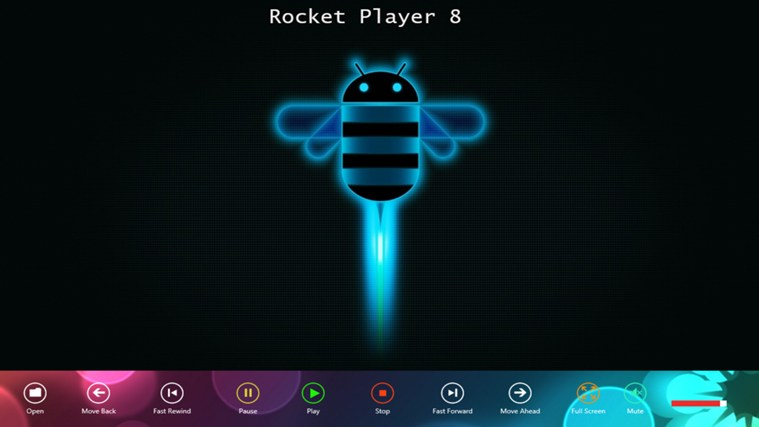Rocket Player 8 media playing