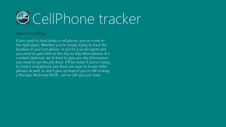 CellPhone tracker