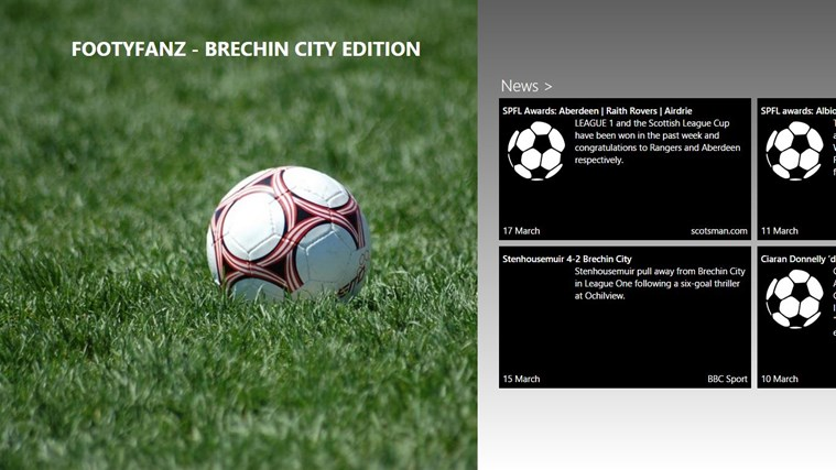 FootyFanz - Brechin City edition