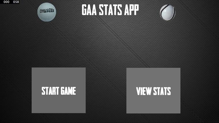 Gaa Stats App stats