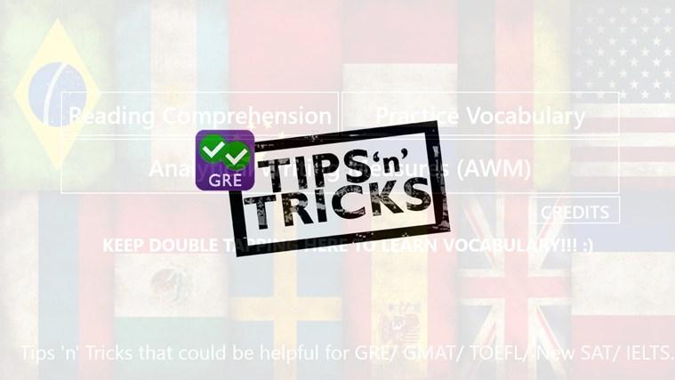 GRE - Tips 'n' Tricks tips tricks