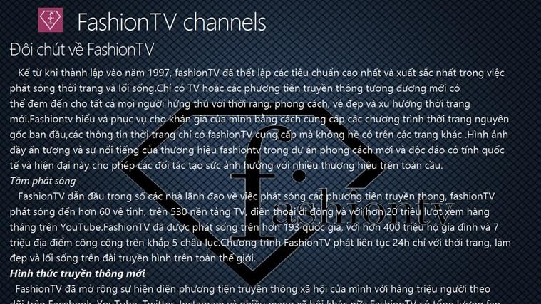 FashionTV channels channels