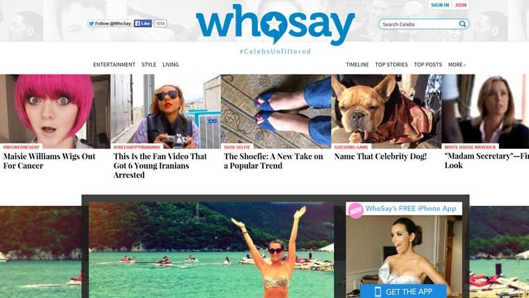 WhoSay celebrities oops female photos
