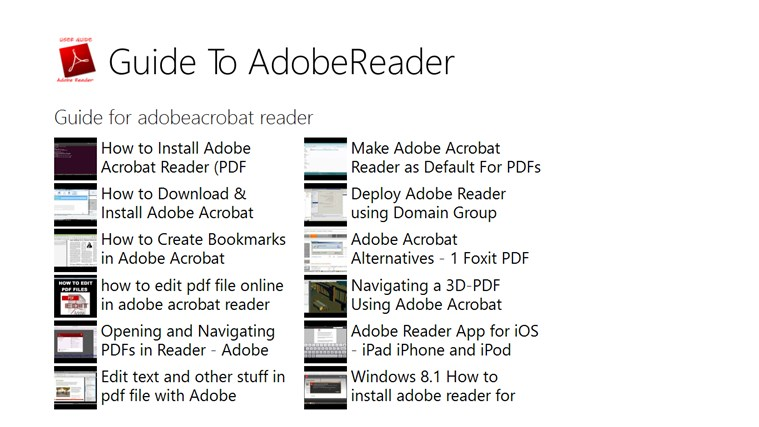 Guide To AdobeReader