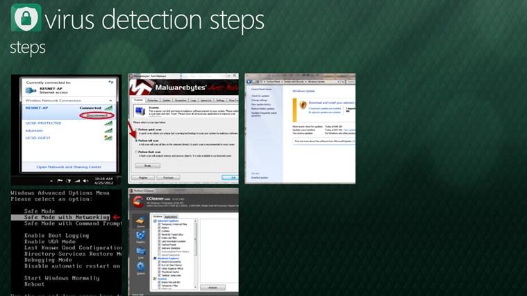 virus detection steps