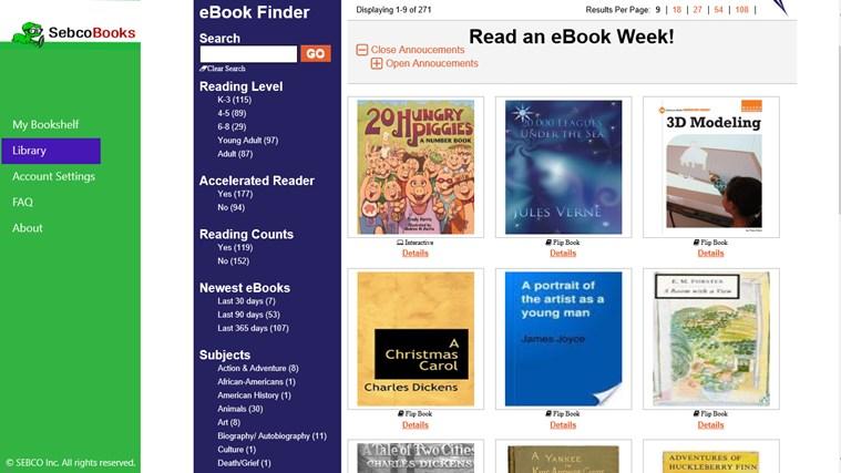 eSebco Reader