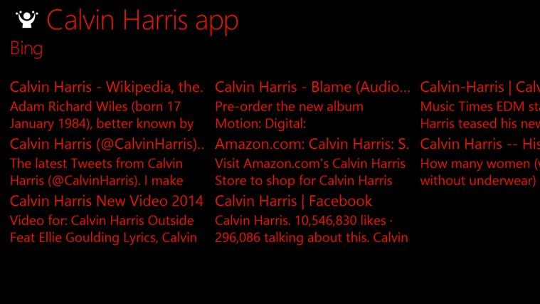 Calvin Harris app