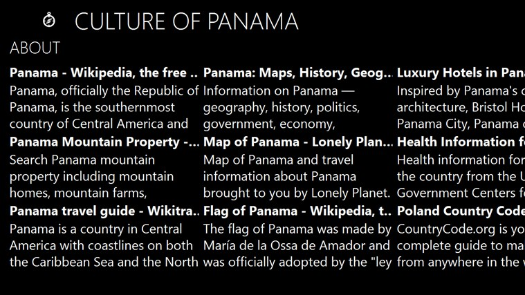 panama history and culture essay If you know anything at all about panama,  22 interesting facts about panama by  a deeper look at nosara and its history will quickly reveal that this long.