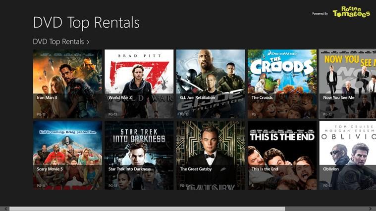 DVD Top Rentals