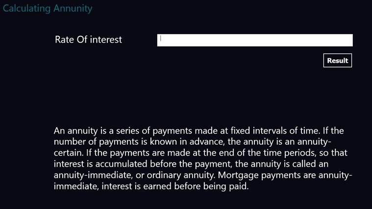 Annuity Applications applications