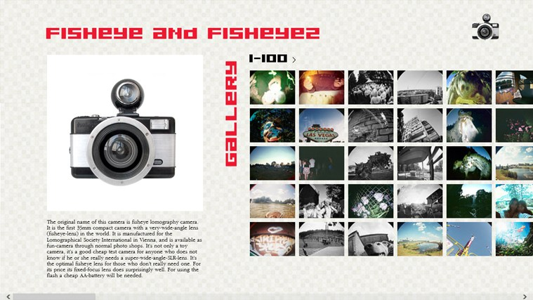 Free Fisheye Photo Gallery camera