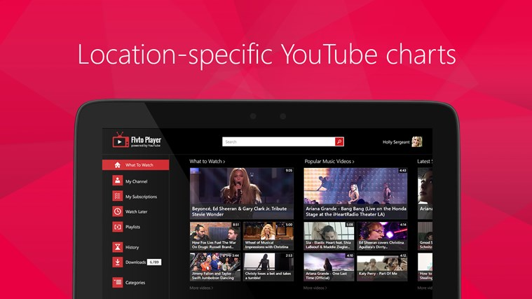 Flvto Media Player for YouTube