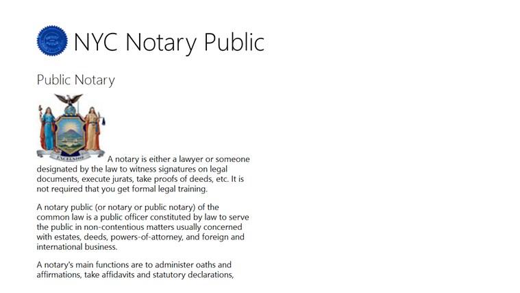NYC Notary Public