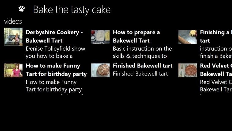 Bake the tasty cake