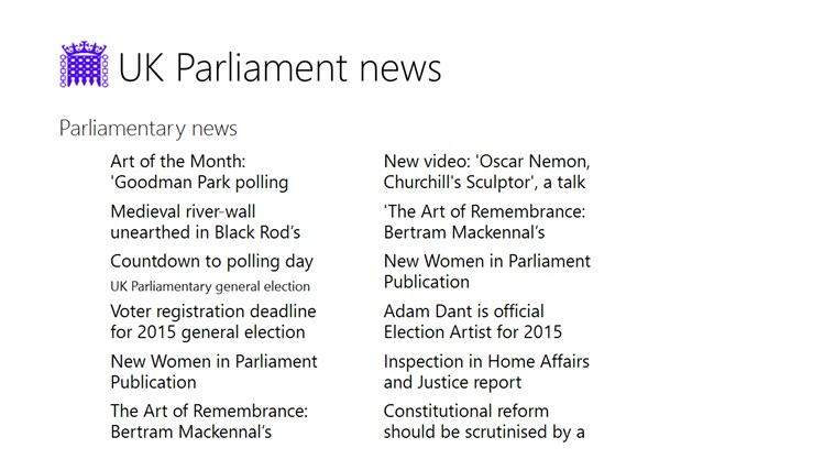 UK Parliament news