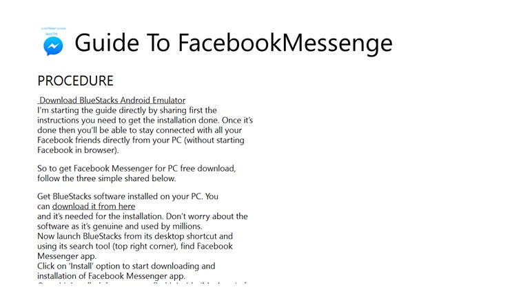 Guide To FacebookMessenger