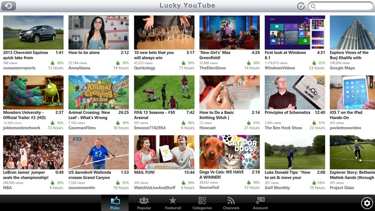 YouTube One player youtube